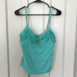 Collections by Catalina Green Fringe Tankini Top
